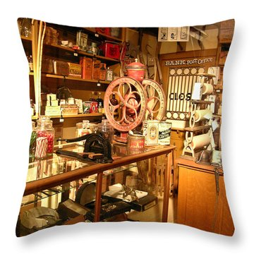 Country Store 1 Throw Pillow by Douglas Barnett
