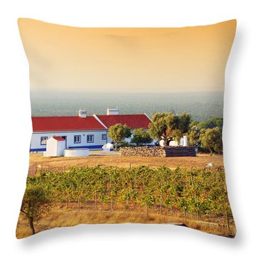 Countryside House Throw Pillow by Carlos Caetano