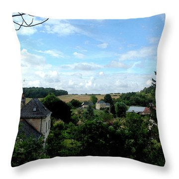 Throw Pillow featuring the photograph Countryside by Pravine Chester
