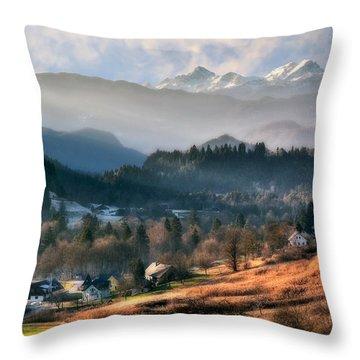 Countryside. Slovenia Throw Pillow