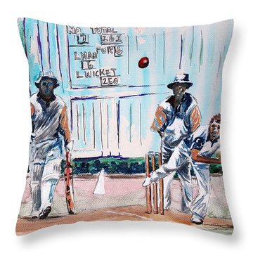 County Cricket Throw Pillow