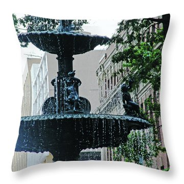 Throw Pillow featuring the photograph Court Square Memphis by Lizi Beard-Ward