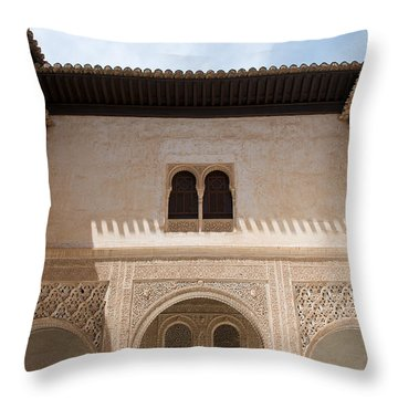 Courtyard Roof Alhambra Throw Pillow