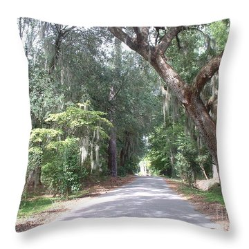 Covered By Nature Throw Pillow by Mark Robbins