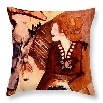 Cowboy Love Throw Pillow by Dede Shamel Davalos