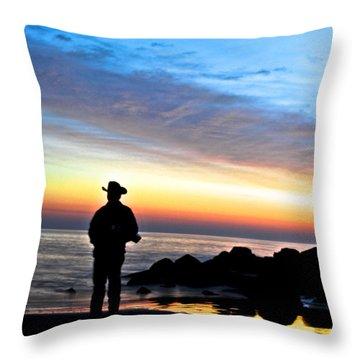 Cowboy Sunrise Throw Pillow