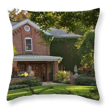 Throw Pillow featuring the photograph Cowles House by Joseph Yarbrough