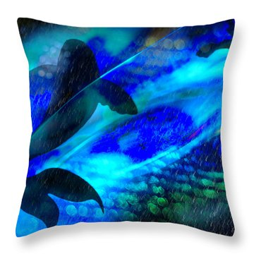 Throw Pillow featuring the photograph Coy Koi by Richard Piper