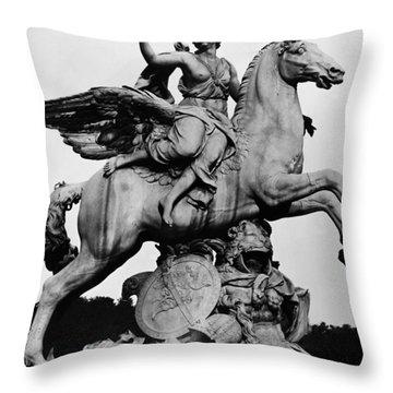 Coysevox: Fame And Pegasus Throw Pillow by Granger