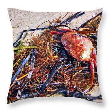 Throw Pillow featuring the photograph Crab Boil by William Fields