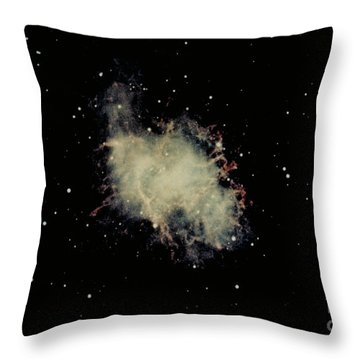 Crab Nebula Throw Pillow by Hale Observatories
