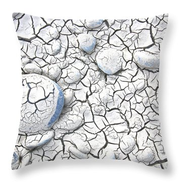 Throw Pillow featuring the photograph Cracked Earth by Nareeta Martin