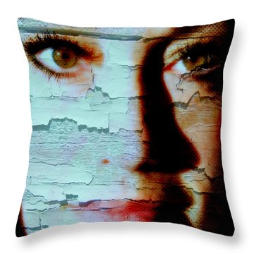 Crackled View Throw Pillow