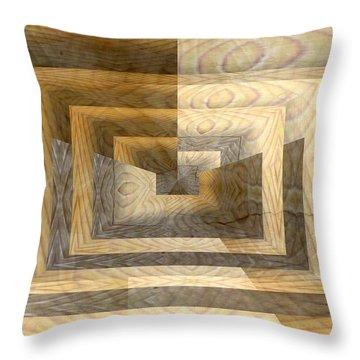 Cracks In The Veneer Throw Pillow by Tim Allen