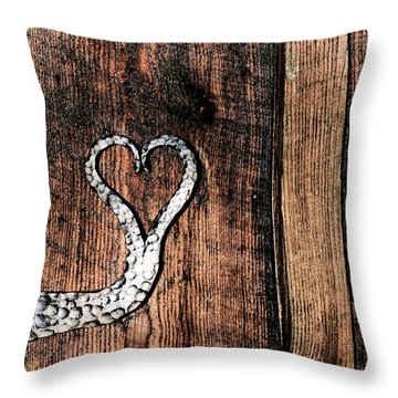 Crafted Heart Throw Pillow by Michelle Joseph-Long