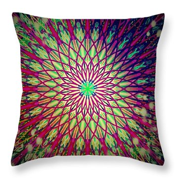 Crazy Days Mandala Throw Pillow