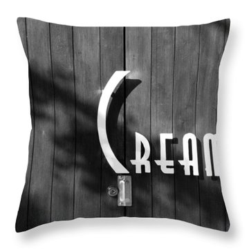 Cream Throw Pillow by Jeannette Hunt