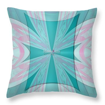 Cream Mint Flow Throw Pillow