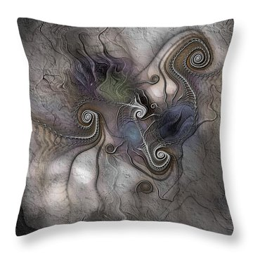 Throw Pillow featuring the digital art Creatively Calcified by Casey Kotas