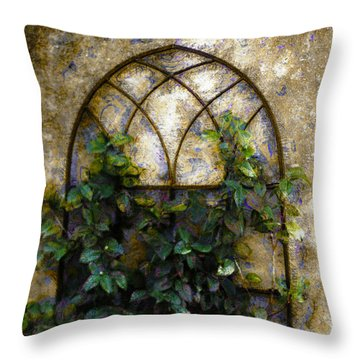 Throw Pillow featuring the photograph Creeping Vine 1 by Donna Bentley