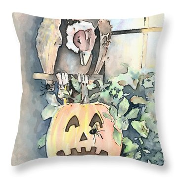 Creepy Crawlers Throw Pillow by Arline Wagner