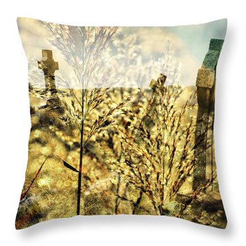 Creepy Throw Pillow by Marty Koch