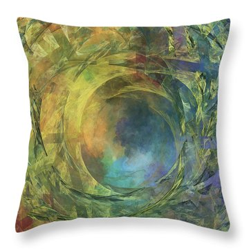 Crescent Moon And Earth Throw Pillow by Betsy Knapp
