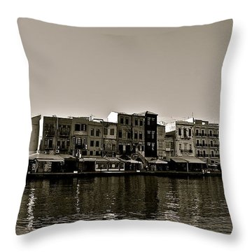Throw Pillow featuring the photograph Crete Reflected by Eric Tressler