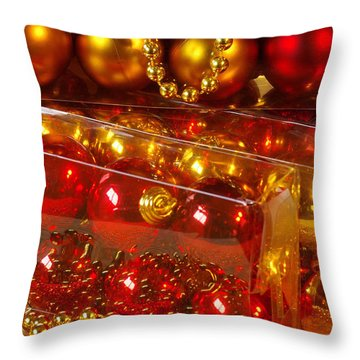 Crhistmas Decorations Throw Pillow by Carlos Caetano