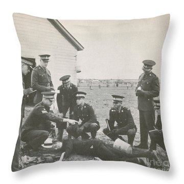 Crime Scene Throw Pillow by Photo Researchers
