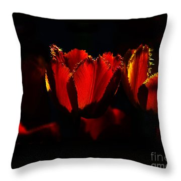 Crinkle Tulips Throw Pillow