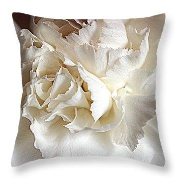 Throw Pillow featuring the photograph Crisp Carnation Photo by Deniece Platt
