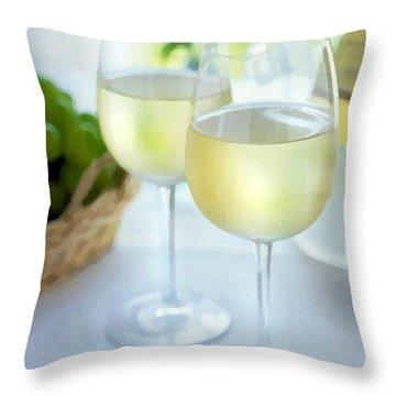 Crisp Whites Throw Pillow by Elaine Plesser