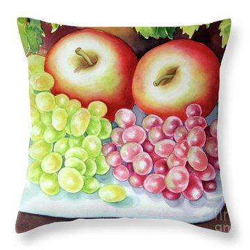 Crispy Fruits Throw Pillow