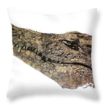 The Crocodile Throw Pillow