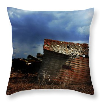 Crooked Breeze One Throw Pillow by Empty Wall