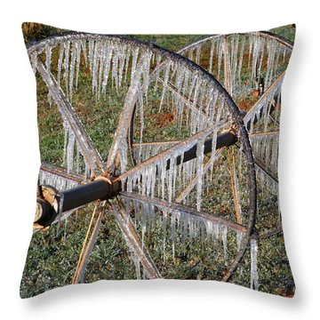 Crops Of Ice #2 Throw Pillow by Nola Lee Kelsey