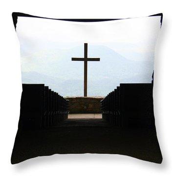 Cross 1 Throw Pillow by Kelly Hazel