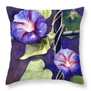 Throw Pillow featuring the painting Cross And Glory by Bonnie Rinier