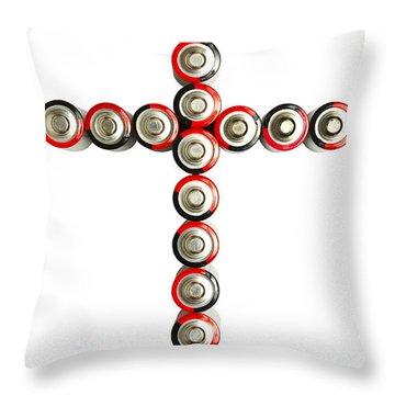 Cross Batteries 1 B Throw Pillow by John Brueske