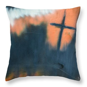 Cross Throw Pillow by Chriss Pagani
