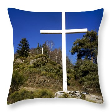 Crosses Throw Pillow by Bernard Jaubert