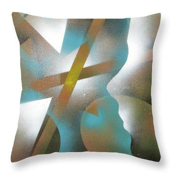 Crossing Of Minds Throw Pillow by Hakon Soreide