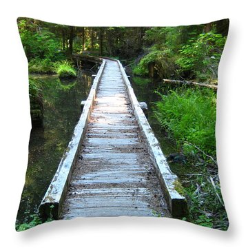 Throw Pillow featuring the photograph Crossing Over by Kathy Bassett