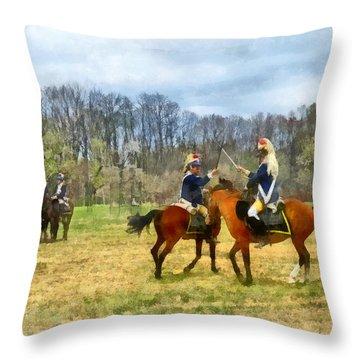 Crossing Sabers Throw Pillow by Susan Savad