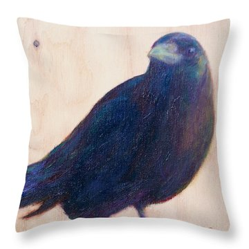 Crow Friend Throw Pillow