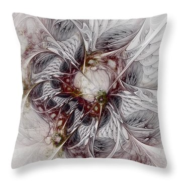 Throw Pillow featuring the digital art Crowd Of Sorrows by NirvanaBlues