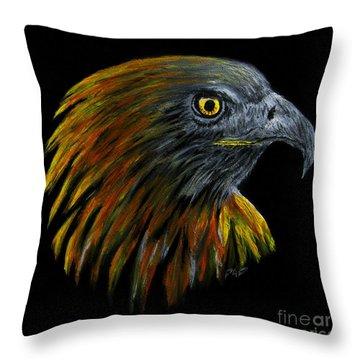 Crowhawk Throw Pillow by Peter Piatt
