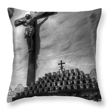 Crucifix Mission San Diego De Alcala Throw Pillow
