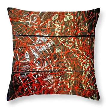 Crucifixion - Tile Throw Pillow by Gloria Ssali